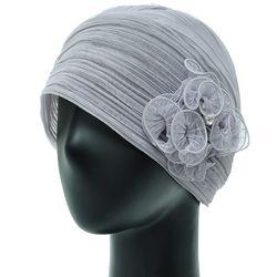 [더그레이S]NKS01.꽃장식 주름 여성 비니 엄마 모자