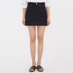clean cotton mini skirt (s m l)