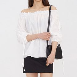 ribbon off shoulder blouse