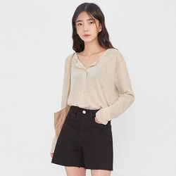 simple linen button T