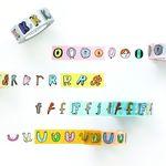 jam jam alphabet PAPER TAPE (O-Z number)