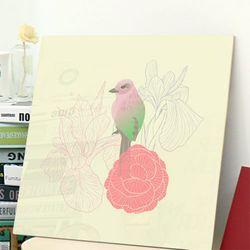 cp674-아크릴액자아름다운꽃과새2
