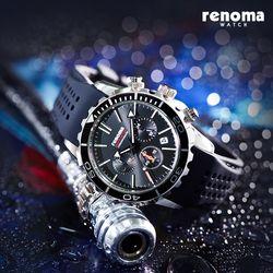[레노마시계] RE-550 다이버 시계 - 블랙