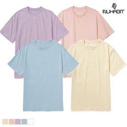 뉴해빗 - Pastel Muji T-shirts - 무지반팔