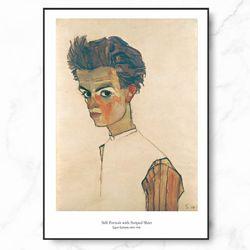 에곤쉴래 인테리어 그림 자화상 포스터 중형