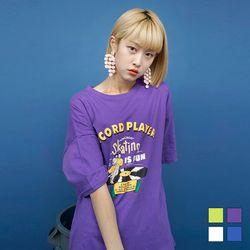 2175 레코드 프린트 티셔츠 (4colors)
