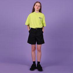 [N] Lettering logo tshirt-lime