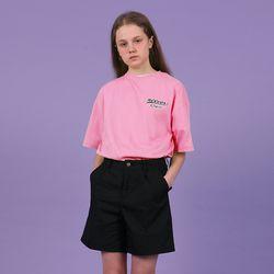 [N] Lettering logo tshirt-pink