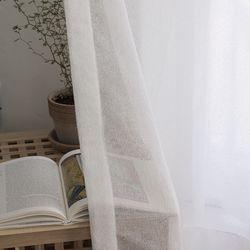 모자이크 커튼-white(나비주름형)