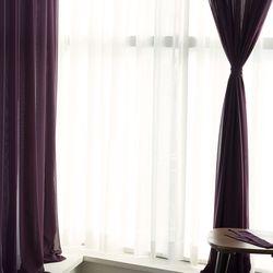 포그 쉬폰 커튼-purple(나비주름형)
