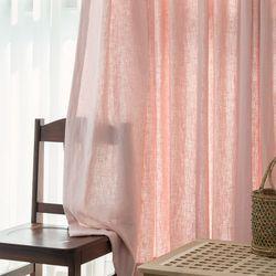 포레스트 린넨 커튼-light pink(민자형)