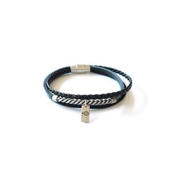 [오뜨르뒤몽드]twist string men bracelet (black)