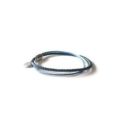 [오뜨르뒤몽드]thin string men bracelet (blue)
