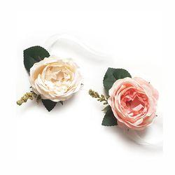 [브라이덜샤워 꽃팔찌] 쥴리아 꽃팔찌