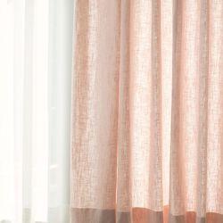 포레스트 린넨 커튼-pail pink(민자형)