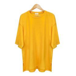 7부 오버핏 옐로우 티셔츠MOD011