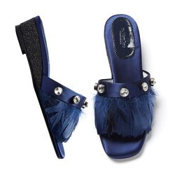 YJ0016 Feather Mule navy