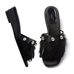 YJ0016 Feather Mule black