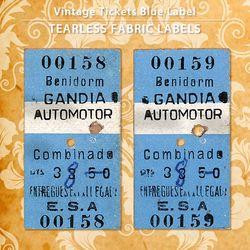 빈티지티켓 블루라벨 5EA - NO.001583 NO.00159
