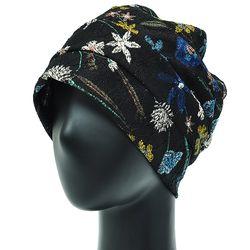 [더그레이S]NSS10.꽃나염 저지 여성 비니 엄마 모자