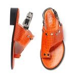 YJ0017 Stud buckle sandal orange