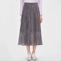 FRESH A pleats banding long skirt