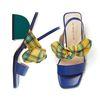 PP8004 Ribbon Block Sandal blue