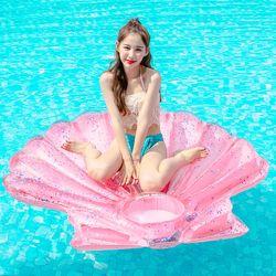 [무료배송] 스윔어바웃 대형 핑크 조개 튜브 140CM