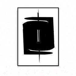 패브릭 포스터 추상화 인테리어 액자 블랙2 [중형]