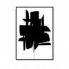 패브릭 포스터 추상화 인테리어 액자 블랙3 [중형]