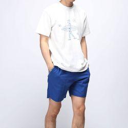 [매트블랙] 써핑 워싱 반팔 티셔츠