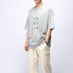 [매트블랙] 워터풀 박스 반팔 티셔츠