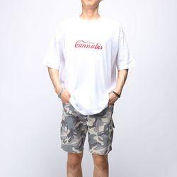 [매트블랙] 캐너비스 박스 반팔 티셔츠