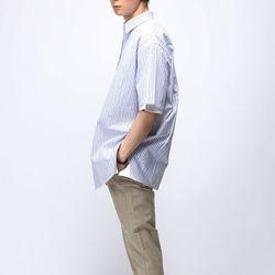 [매트블랙] 트리플 스트라이프 반팔 셔츠