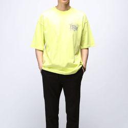 [매트블랙] 삼각나염 박스 반팔 티셔츠