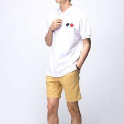 [매트블랙] 패치 피케 반팔 티셔츠