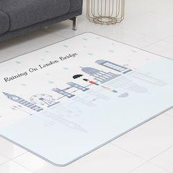 런던브릿지 3D통풍 매쉬매트 블루 100x150