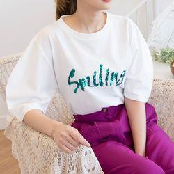 P6642 스마일 벌룬 티셔츠