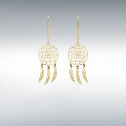 [런던골드 9ct Gold] Flower Dream Catcher Earrings