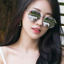 심플 미러 원형 보잉 선글라스