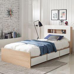 로아 LED 수납형 슈퍼싱글 침대 (매트별도)