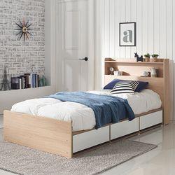 엘리나 LED 수납형 슈퍼싱글 침대 (매트별도)