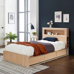 제이미 LED 수납형 슈퍼싱글 침대 (매트별도)