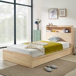 헤이디 LED 소나무원목 평상형 SS 침대 (매트별도)