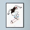 유니크 디자인 포스터 M 스케이트 보드 A3(중형)