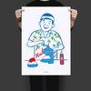 유니크 디자인 포스터 M 소년 빙수 A3(중형)