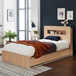 로아 LED 수납형 퀸 침대 (매트별도)