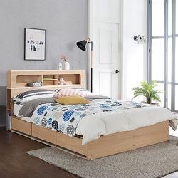 제이미 LED 수납형 퀸 침대 (매트별도)