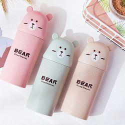 곰돌이 휴대용 칫솔 케이스
