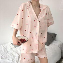 딸기맛 투피스 잠옷 파자마